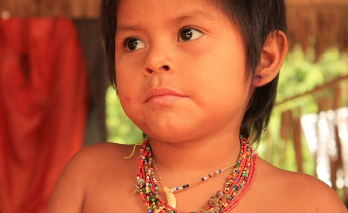 Child Matsiguenga posing for our photographer   Responsible Travel Peru