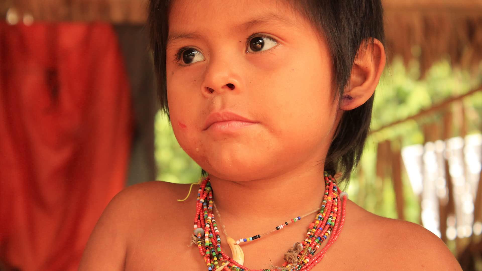 11Child Matsiguenga posing for our photographer | Responsible Travel Peru