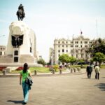 San Martin square is characterized by the big monument to the independence leader | Responsible Travel Peru
