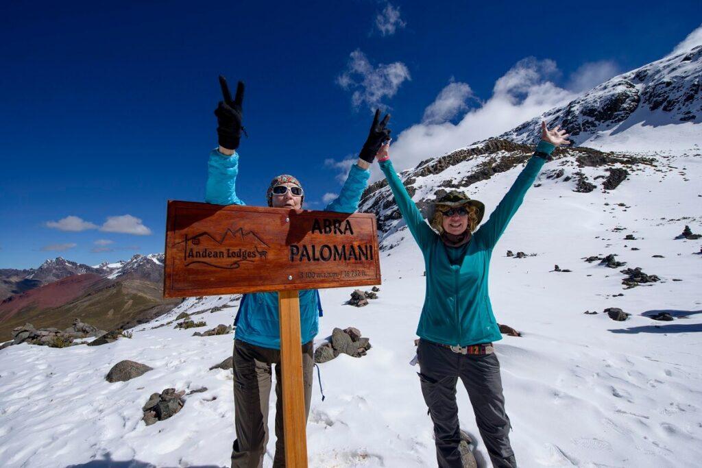 Proud hikers at the Palomani Pass - Ausangate Trek - Responsible Travel Peru